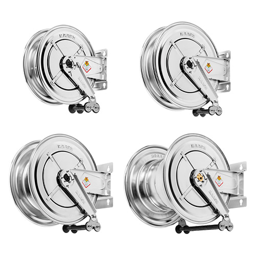 AISI 304 and 316 stainless steel hose reels - without hose