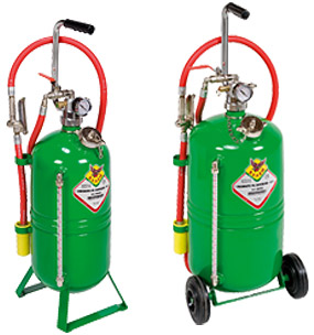 Pneumatic dispensers for oil and similar
