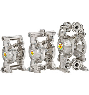 Diaphragm pumps - entirely in aluminum
