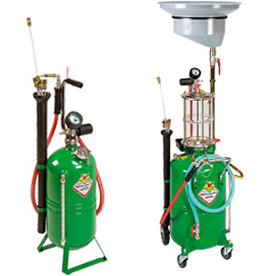 Waste oil gravity and suction drainers