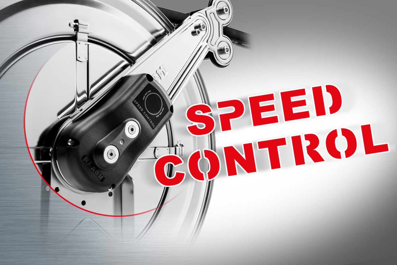 "THE NEW ""SPEED CONTROL"" REWINDING BRAKE"
