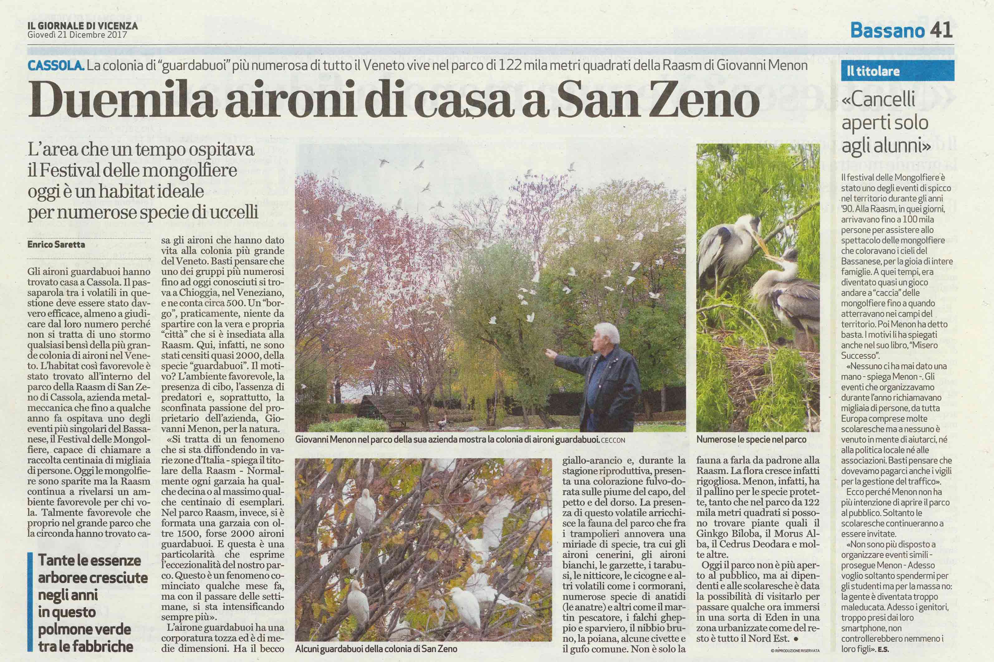 RAASM IS ON THE GIORNALE DI VICENZA