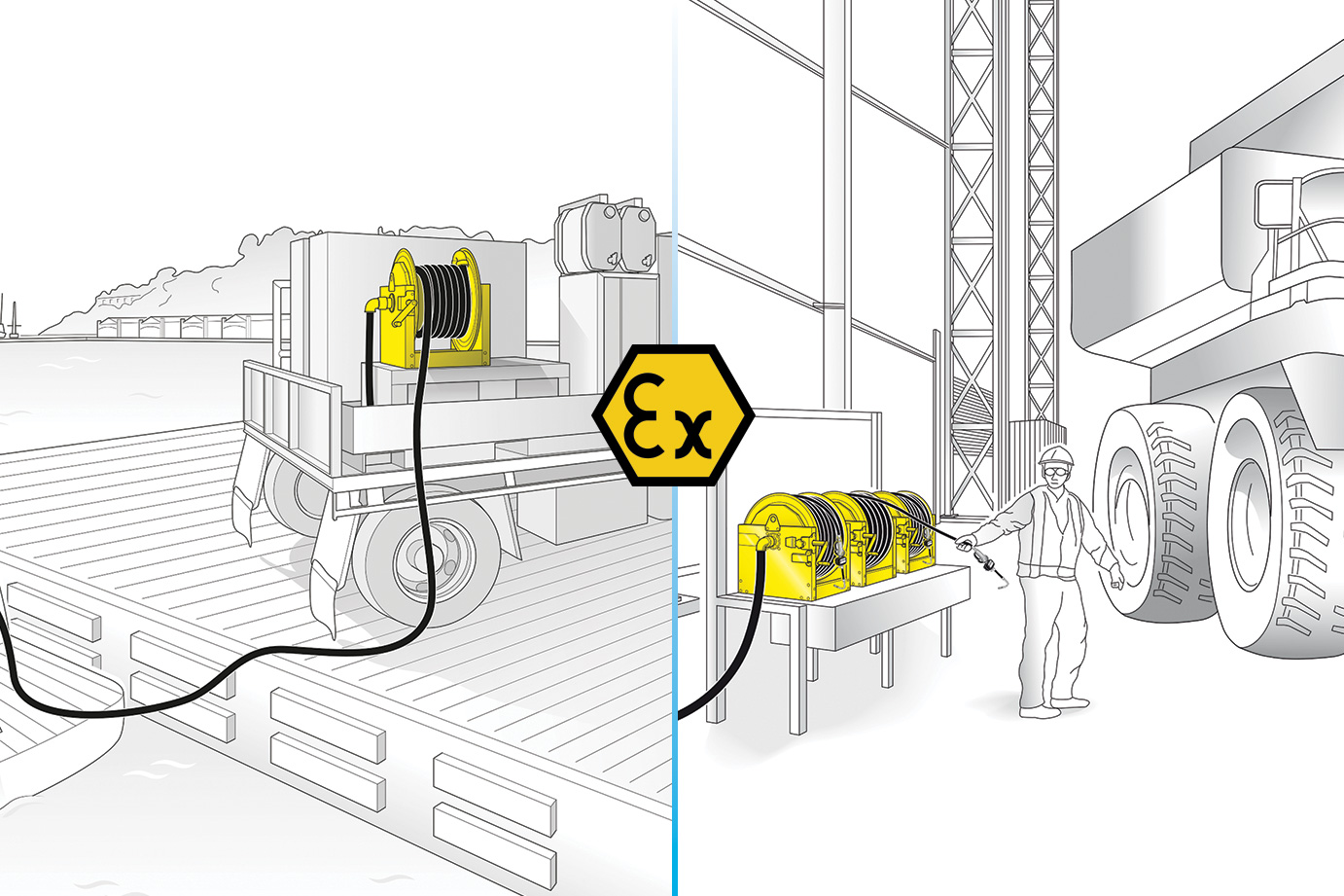 ATEX CERTIFICATION FOR THE MANUAL HOSE REELS