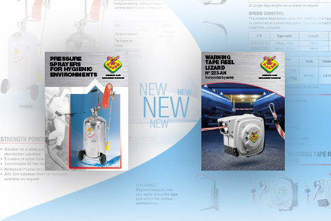 NEW FLYER FOR PRESSURE SPRAYERS AND WARNING TAPE REELS